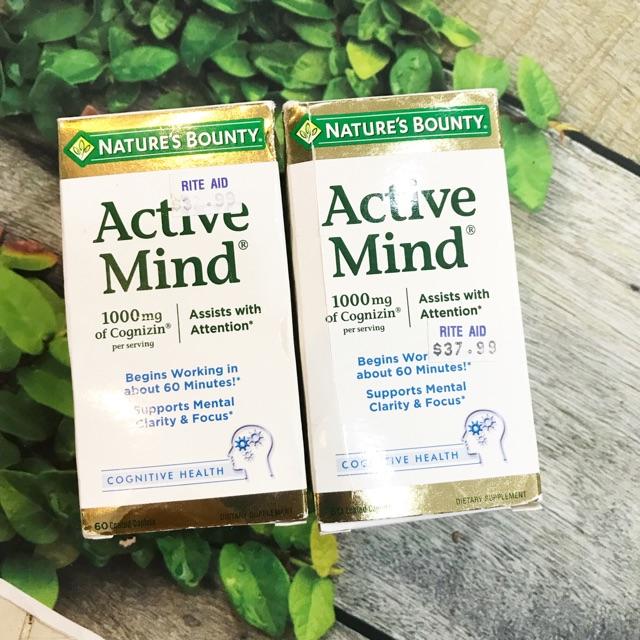 Thuốc tập trung trí não Active Mind Nature