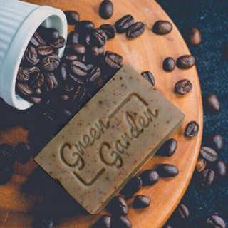 100gr Xà phòng handmade Green Garden Cofee Tẩy tế bào chết sạch sáng da thumbnail