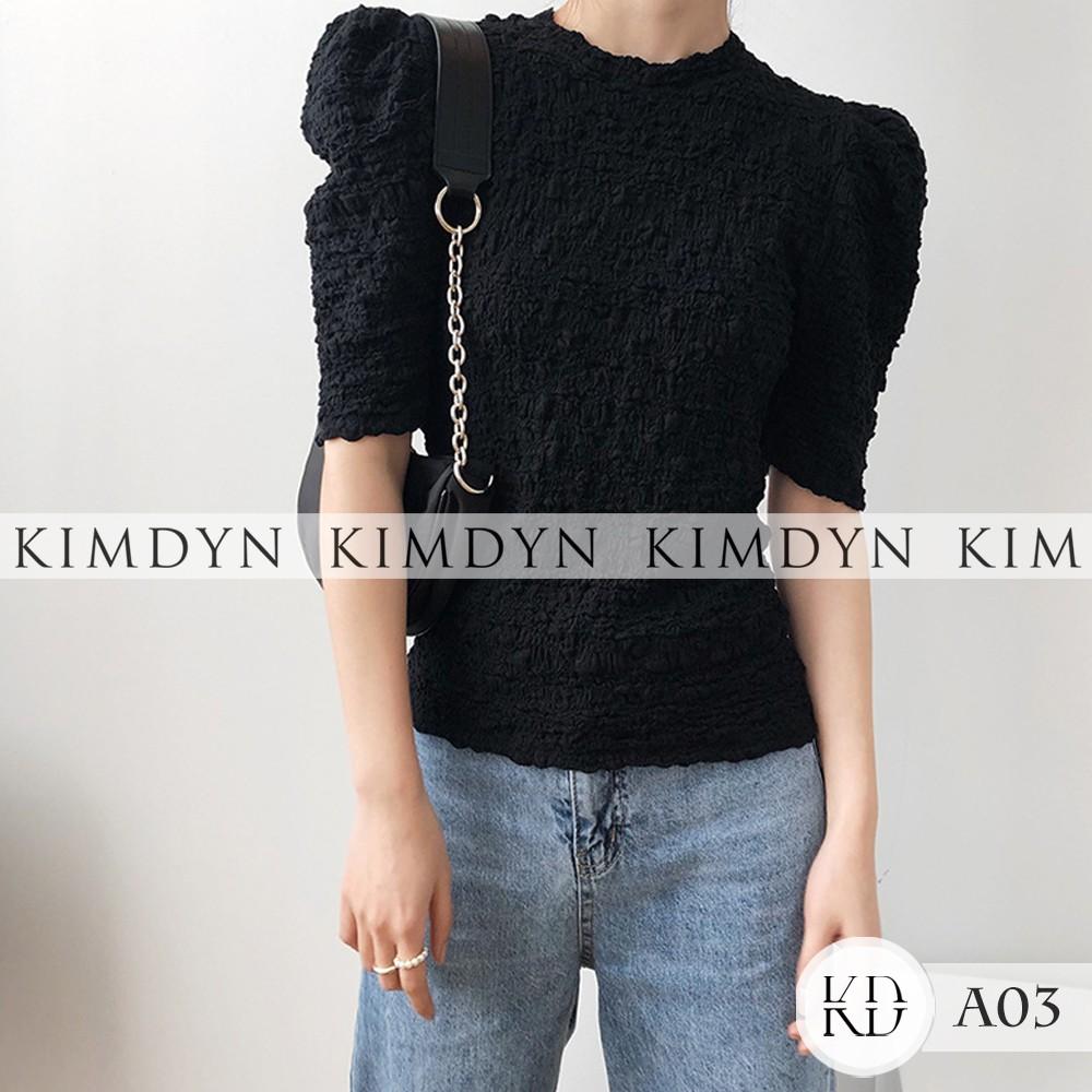 Áo vintage nữ áo kiểu ôm tay lỡ KIMDYN [KDA03]