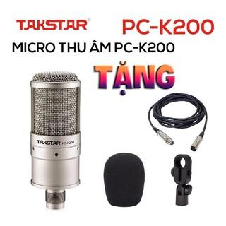Chính hãng Mic thu âm chuyên nghiệp cao cấp Takstar PC-K200 tặng dây xl-xlr hát karaoke, livestream, bán hàng thumbnail