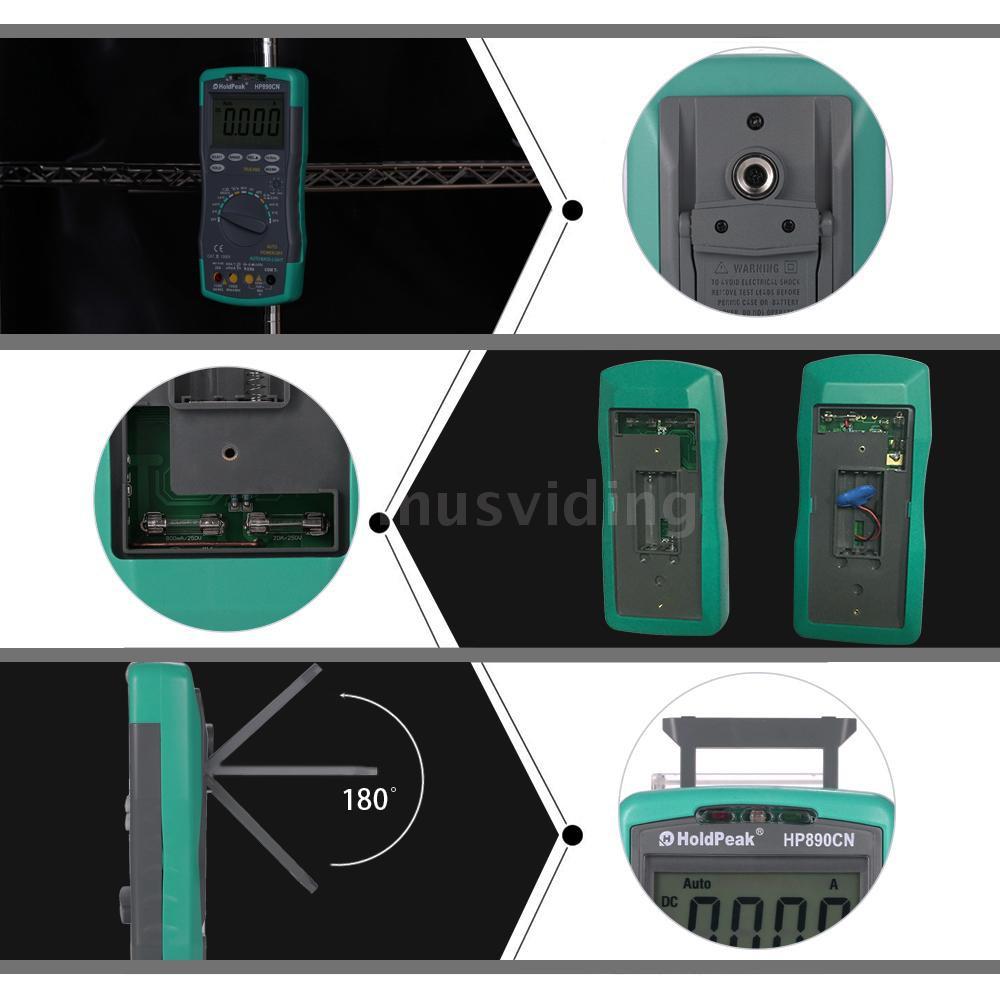 Bộ máy vạn năng kế kỹ thuật số HP-890CN LCD kèm bộ phát hiện NCV