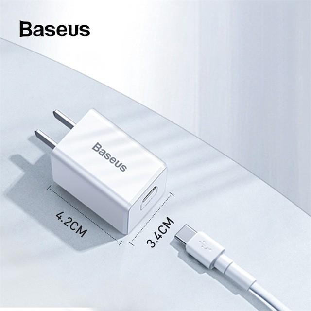Bộ Sạc Nhanh Iphone 18W chính hãng Baseus Sử Dụng Được Cho Iphone 11/11 Pro/ 11 Pro Max/ 8/ 8 Plus / X / Xs / Xs Max /11
