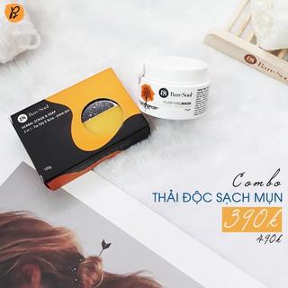 Xà phòng trị mụn và thâm Baresoul Herbal Scrub & Soap 100g