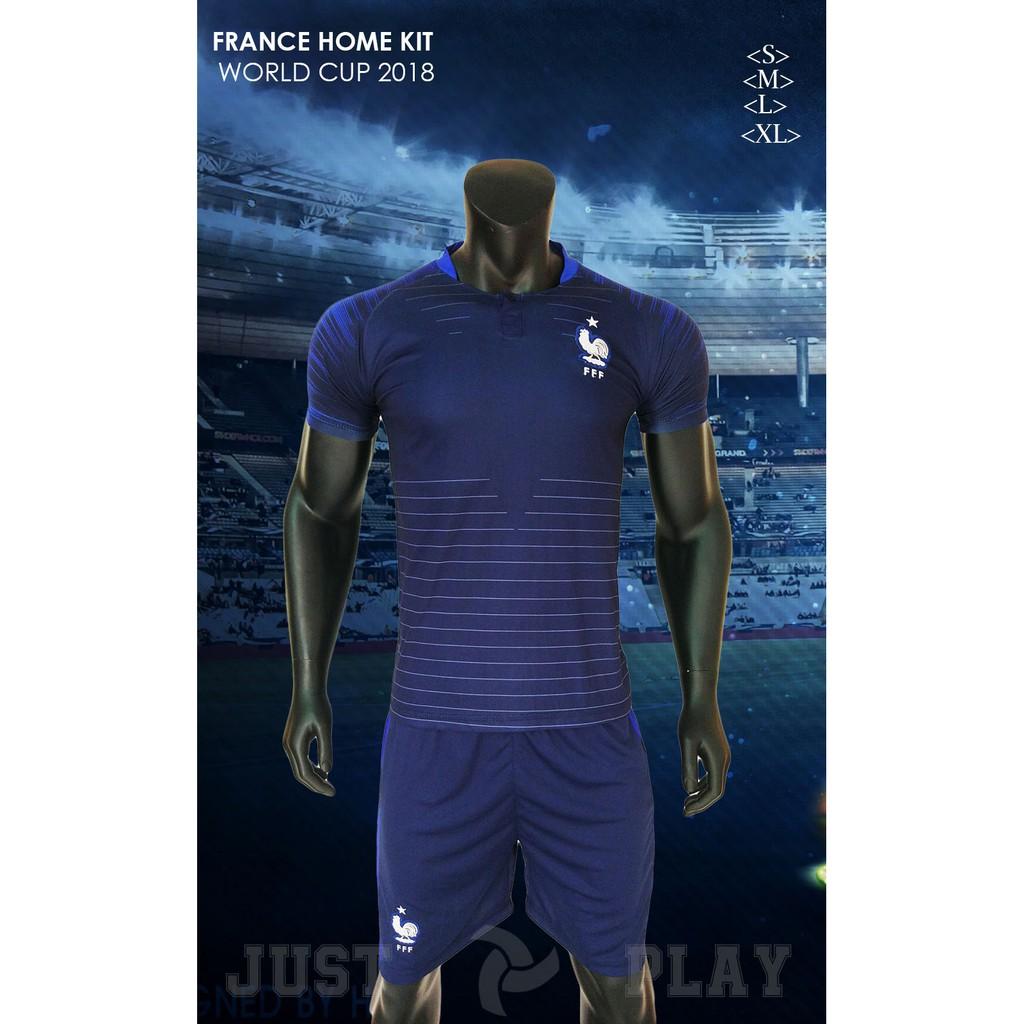 Quần áo đá banh đội tuyển Pháp xanh sân nhà World Cup 2018