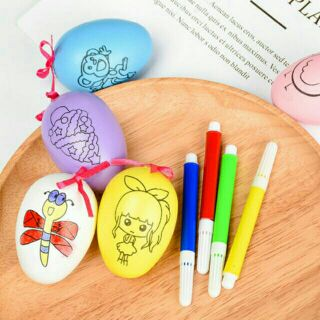 100 bộ Trứng tô màu kèm bút