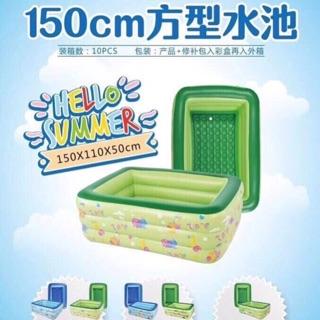 Bể bơi 3 tầng 150x110x50cm đáy 2 lớp bơm hơi dày dặn