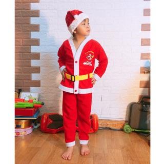 Bộ quần áo ông già Noel kèm mũ hoá trang