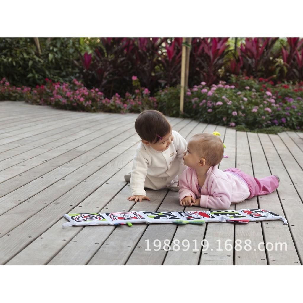 SÁCH VẢI DÀI 2 MẶT treo cũi phát triển thị giác cho bé