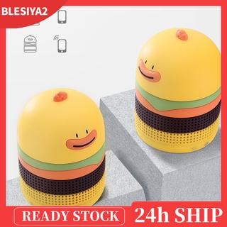 (Hàng Mới Về) Bộ 2 Loa Bluetooth Mini Hình Hamburger Vịt Hoạt Hình Đáng Yêu Cho Nữ