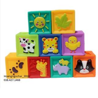 Set 9 khối vuông phát triển giác quan cho bé sơ sinh