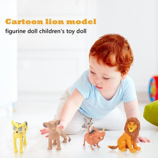 ✿READY STOCK✿12pcs Cartoon Lion Model Toys Desk Ornament Figures Doll Children Gift