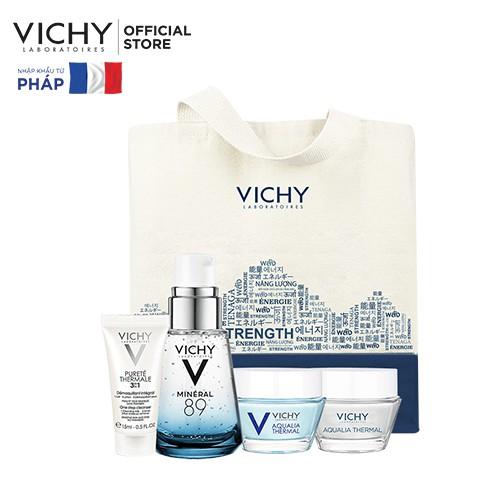 Bộ sản phẩm giúp da sáng mịn và căng mượt Vichy Mineral 89 30ml