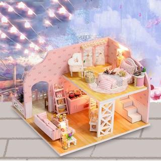 Mô hình biệt thự công chúa-DIY (tặng kèm mica,keo)