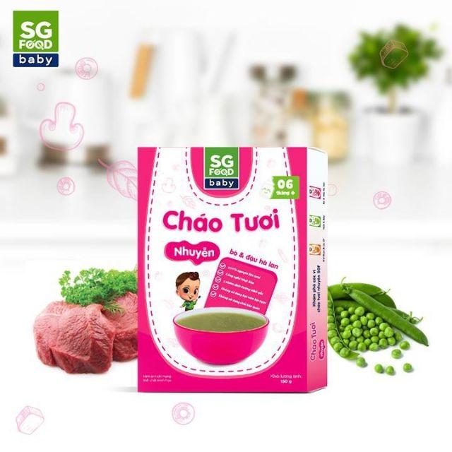 CHÁO ĂN DẶM CHO BÉ 6-12 THÁNG SG FOOD