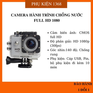 CAMERA HÀNH ĐỘNG CHỐNG NƯỚC FULL HD 1080P, A9