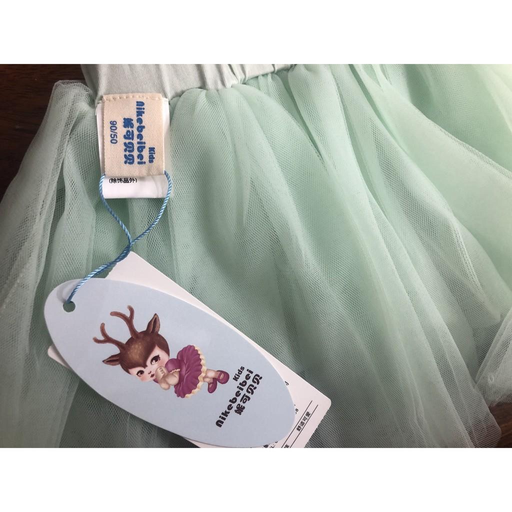 Chân váy lưới ❤ Free Ship 50k ❤  Chân váy lưới xòe nhiều lớp cho bé gái hàng hiệu
