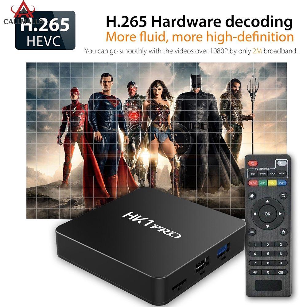 Bộ thiết bị chuyển đổi TV thường thành Smart TV HK1 Pro 2.4&5 Ghz Wifi Bluetooth 4K 3D chuyên nghiệp