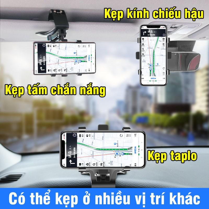 Giá đỡ điện thoại trên ô tô – kẹp điện thoại ô tô xoay 360 độ