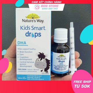 [SALE] DHA Nature s Way Kids Smart dạng giọt Drops 20ml - Xuất xứ Úc thumbnail