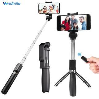 Gậy Selfie Windmile 3 Trong 1 Bluetooth Có Thể Xoay 360 Độ Cho Ios Và Android Kèm Remote Điều Khiển