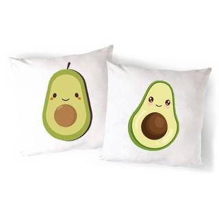 Vỏ Gối Sofa quả bơ avocado VGI10 gối ôm Gối Tựa lưng Sofa Gối vuông Gối Trang Trí vải canvas 45x45cm