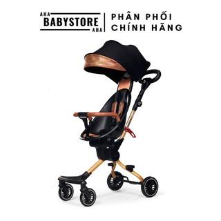 Xe đẩy gấp gọn 2 chiều có mái che Baobaohao V5B Plus - Màu nâu - Hàng chính hãng - Bảo hành 1 năm thumbnail