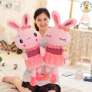 Thỏ hồng chân dài- 95cm hàng nhập -vải mịn siêu cho bé yêu