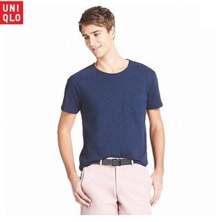 Áo thun nam Uniqlo 100% Supima cotton – cổ tròn có túi (LIGHT18)
