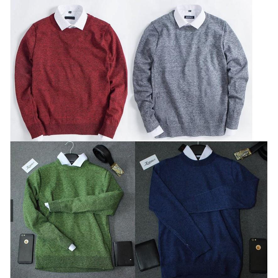 Áo Len Tiêu Cổ Tròn, Áo Len Nam Len Thêu dáng ôm nhẹ phù hợp cho cả nam và nữ hoặc làm áo đôi