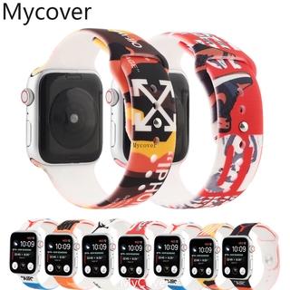 Dây Đồng Hồ Bằng Silicone Màu Trắng Cho Apple Watch Series 6 Se 5 4 3 2 1 Band 40mm 44mm 42mm 38mm