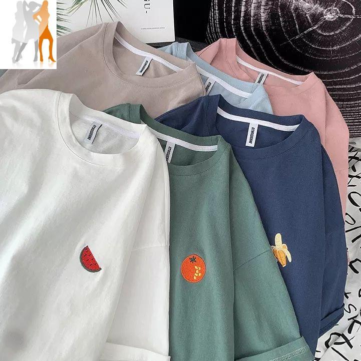Áo thun unisex nam nữ đều mặc được   thêu hình trái cây - Trùm Chuyên Sỉ Thời Trang - 180820201031