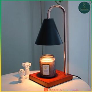Đèn đốt nến thơm đế gỗ Warmer Candles phong cách Hàn Quốc cổ điển – Có núm chỉnh độ sáng