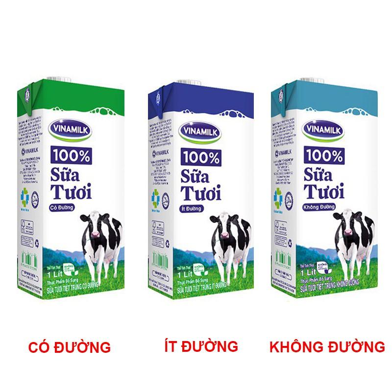 Combo 6 hộp sữa tươi Vinamilk 1L