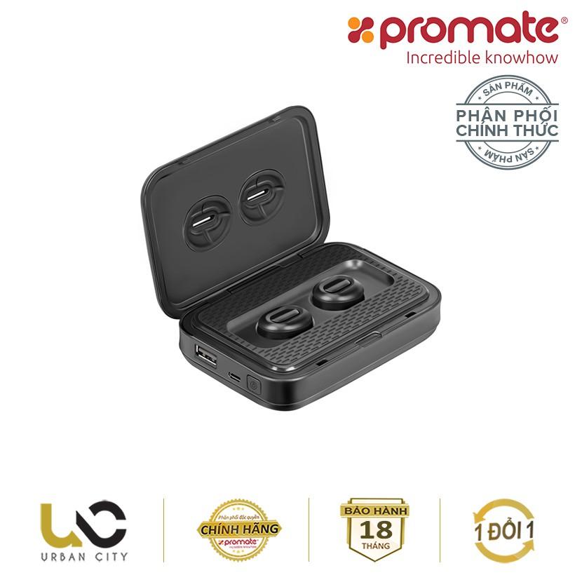 Tai nghe Bluetooth Earbuds không dây Promate PowerBeat kiêm sạc dự phòng 5000mAh - Hàng Chính Hãng - 3610393 , 1301266971 , 322_1301266971 , 2990000 , Tai-nghe-Bluetooth-Earbuds-khong-day-Promate-PowerBeat-kiem-sac-du-phong-5000mAh-Hang-Chinh-Hang-322_1301266971 , shopee.vn , Tai nghe Bluetooth Earbuds không dây Promate PowerBeat kiêm sạc dự phòng 5
