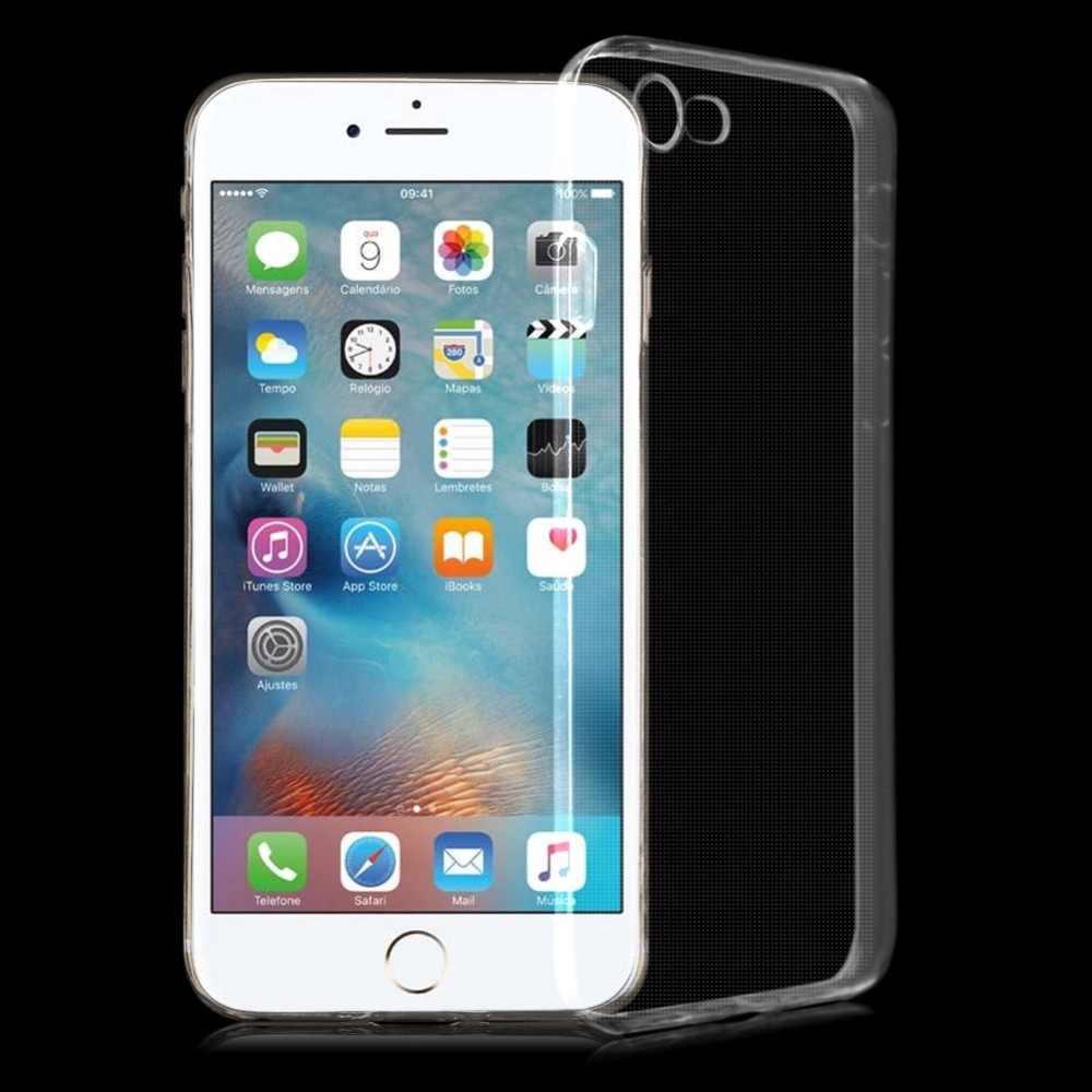 Bakeey™ 4D Curved Edge Tempered Glass Film With Transparent TPU Case for iPhone 7