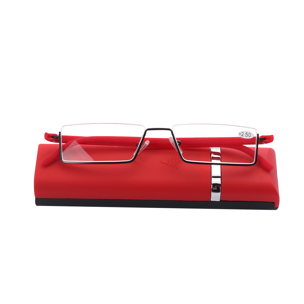 💎OKDEALS💎 Vision Care with Case TR90 Portable Ultralight Reading Glasses