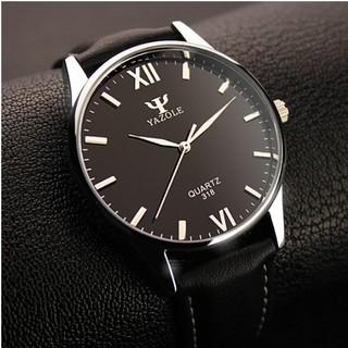 Đồng hồ nam Yazole 318 dây da thumbnail