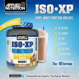 Combo Sữa tăng cơ Applied Nutrition Whey Iso XP 2kg – 80 lần dùng