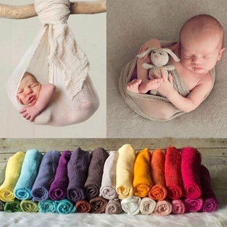 Newborn Baby Cotton Washcloth Bath Towel Soild Color Cloth Wrapped Blanket Photo Photography Props