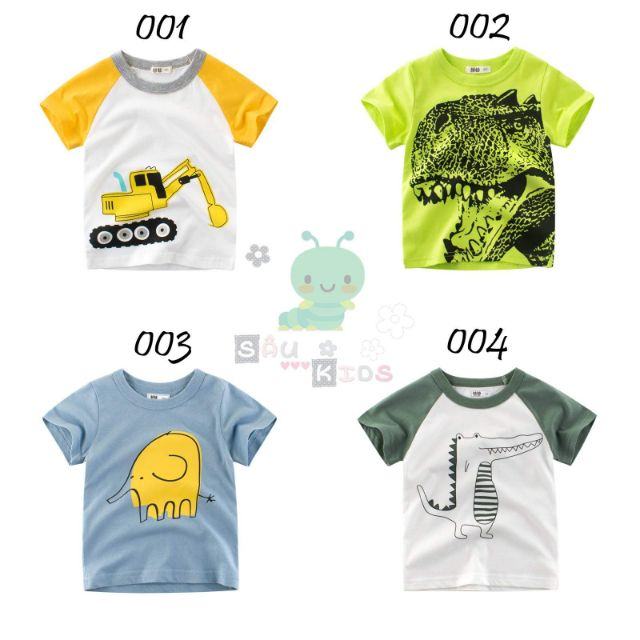[CHÍNH HÃNG] - Áo phông 27 kids bé trai in hình ngộ nghĩnh hàng quảng châu cao cấp