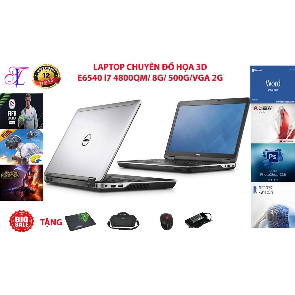 LAPTOP KHỦNG ĐỒ Họa E6540 Core i7 4800QM, RAM 8G, HDD 500G, VGA Radeon 8790M 2Gb