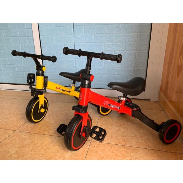 Xe thăng bằng – xe đạp 3 bánh đa năng cho bé. Xe thăng bằng có bàn đạp kết hợp xe chòi chân Happy baby