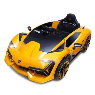 Ô tô xe điện đồ chơi NEL 603 vận động cho bé 2 động cơ kèm nhún dáng thể thao (Đỏ-Vàng-Xanh)