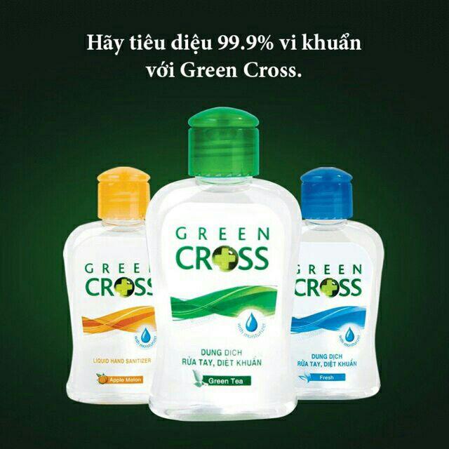 Nước Rửa Tay Khô Green Cross 100ml Hương Trà Xanh