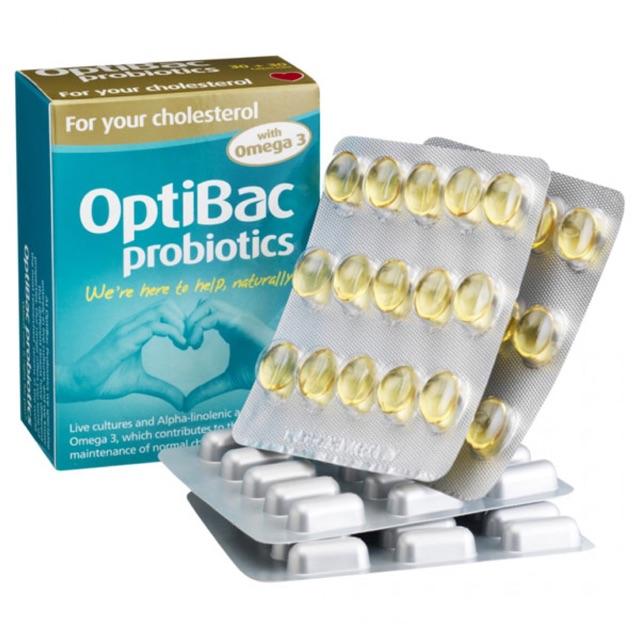 Men vi sinh Optibac Cholesterol giảm mỡ máu