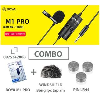 Micro BOYA BY M1 PRO - mic thu âm gài áo lavalier cho điện thoại, máy ảnh, máy quay, PC