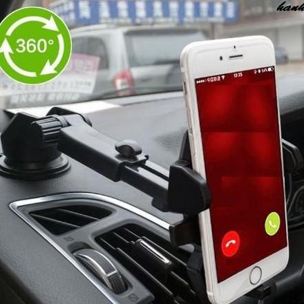 Gía đỡ kẹp điện thoại trên xe hơi- đen