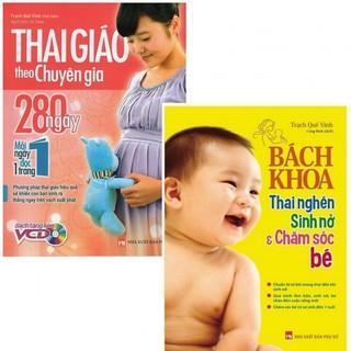 Sách -Combo Bách Khoa Thai Nghén Và Thai Giáo Theo Chuyên Gia - 280 Ngày - Mỗi Ngày Đọc Một Trang