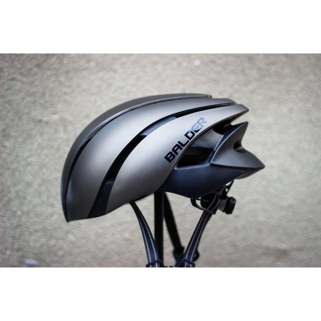 Nón xe đạp thể thao BALDER B86 cao cấp XÁM NHÁM