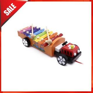 [ẢNH TỰ CHỤP] Đồ chơi đàn gõ xe kéo bằng gỗ cho bé hình ô tô [BÁN CHẠY]
